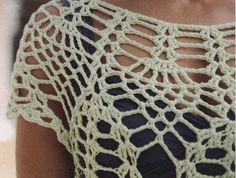 Jersey de Red Superposicion de Otoño - Patrones Crochet