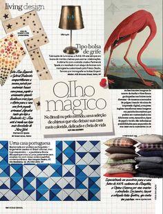 Vogue Brasil // Shop Online www.lurca.com.br/ #azulejos #azulejosdecorados #revestimentos #arquitetura #interiores #decor #design #sala #reforma #decoracao #geometria #casa #ceramica #architecture #decoration #decorate #style #home #homedecor #tiles #ceramictiles #homemade
