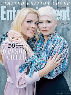 Busy Philipps and Michelle Williams Dawson's Creek Entertainment Weekly Cover Michelle Williams, Entertainment Weekly, Katie Holmes, Dawson Crece, Dawson's Creek Cast, Meredith Monroe, Joey Potter, Busy Philipps, 20 Year Anniversary