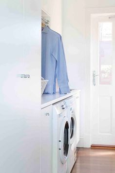 Small space laundry renovations: how to fit a laundry into any space in your home Laundry Appliances, Home Appliances, Small Sink, Small Laundry Rooms, Tiny Spaces, Small Space Living, How To Run Longer, Cool Things To Make, Storage Spaces