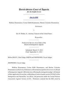 hounmenou-v-holder-published-no111990-8th-cir-91112-fgm by BigJoe5 via Slideshare