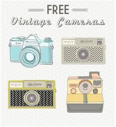 Free Vintage Camera clip art printables