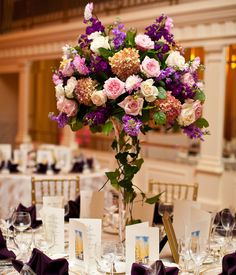 wedding reception centerpieces | Tall Centerpieces - High Centerpieces | Wedding Planning, Ideas ...