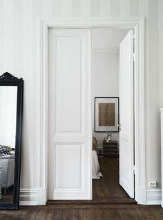 Trendy Bedroom Black And White Walls Simple Ideas The Doors, Wood Doors, Entry Doors, Patio Doors, Garage Doors, Front Entry, Exterior Doors, Scandinavian Doors, Scandinavian Style
