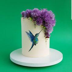 Schauen Sie sich dieses unglaubliche Kuchen-Design an! Gorgeous Cakes, Pretty Cakes, Amazing Cakes, Cake Wrecks, Crazy Cakes, Bird Cakes, Cupcake Cakes, Flower Cakes, Fondant Flower Cake