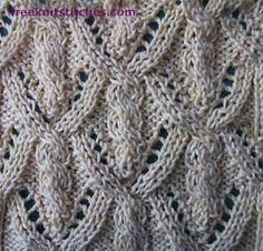 Knitting Stitch Patterns -- Cable & Twist Stitches--                 Flashlight