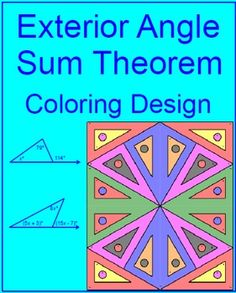 Interior exterior angles of triangles matching activity - The exterior angle of a triangle is equal to ...