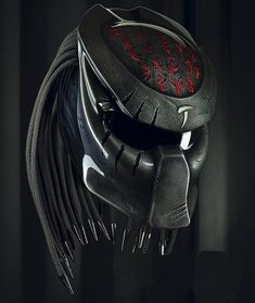 Here we sell several helmets that have been modified / specifically designed to be character helmets, and these helmets already have certificates or DOT And ECE standards. Making process - The process of making a predator helmet require. Predator Helmet, Predator Tattoo, Predator Alien, Custom Helmets, Custom Motorcycle Helmets, Women Motorcycle, Motorcycle Quotes, Motorcycle Gear, Motorcycle Events
