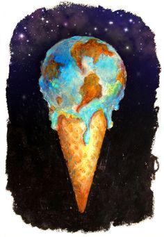 global warming Art Print by bananabread - X-Small Global Warming Drawing, Global Warming Project, Global Warming Poster, Poster Drawing, Political Art, Collaborative Art, Environmental Art, Art Sketchbook, Climate Change