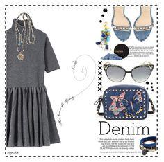 """DENIM Look #3"" by wynsha ❤ liked on Polyvore featuring Valentino, Jill Stuart, Christian Louboutin, Lenora Dame, Marc by Marc Jacobs, Platadepalo, Jimmy Choo, INIKA and denim"