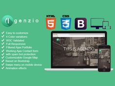 AGENZIOis a multipurpose and responsive One Page HTML5 / CSS3 template. Features: Clean and simple…