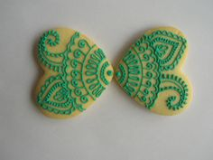 Henna designs by Nataly's Cookies Fancy Cookies, Iced Cookies, Biscuit Cookies, Sugar Cookies, Candy Art, Valentines Day Cookies, Glass Candy, Cookie Designs, Paint Party