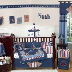 Amazing Little Boy Bedroom Design with WHite Wall Paint Color and Wooden Floor also Striped Motif Bed and Modern White Square Carpet Area also Blue Curtain and Black Beside Table  Set