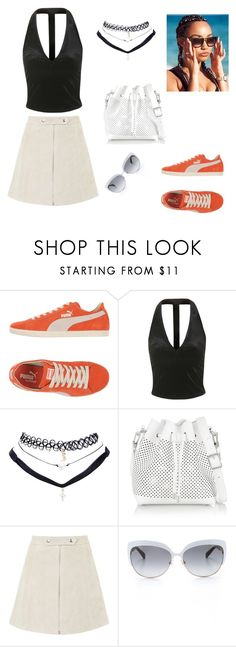 """""""Wear what you want"""" by sarahavamarie ❤ liked on Polyvore featuring Puma, Topshop, Wet Seal, Proenza Schouler and Kate Spade"""