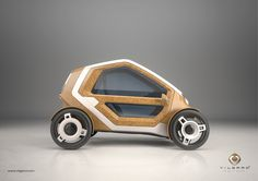 Villgard Motor - pedal electric car with sustainable material, bio composites, hemp fibres
