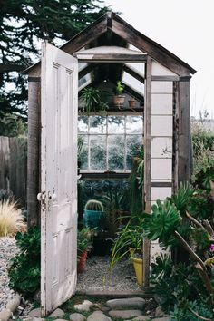 General Store: potting shed and greenhouse Outside Living, Outdoor Living, Garden Structures, Outdoor Structures, Outdoor Spaces, Outdoor Decor, Greenhouse Gardening, Garden Spaces, Garden Inspiration