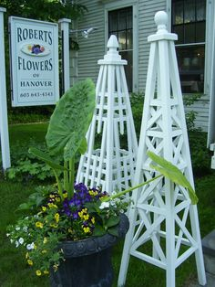 Locally made garden trellis'-Roberts Flowers of Hanover