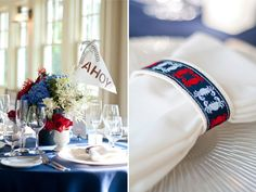 canvas key chain napkin holder AND favor... seriously love this idea