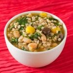 Vegetable Barley Soup with White Beans & Kale