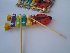 Xilofono coccinella, in legno