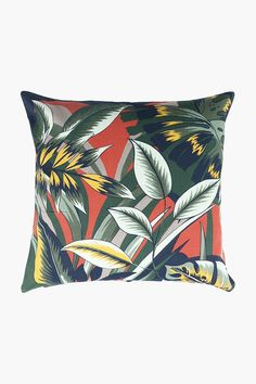 Printed Glastonbury Leaf Scatter Cushion, 50x50cm - Shop New In - Home Scatter Cushions, Throw Pillows, 2nd City, Home Decor Shops, Chair Pads, Rustic Charm, Decor Styles, Recycling, Leaves