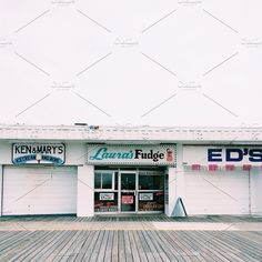 Single hi-res iPhone photo of boardwalk businesses in Wildwood, NJ. Business Stock Photos