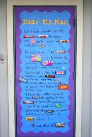 Teacher appreciation door decorating Idea from the class