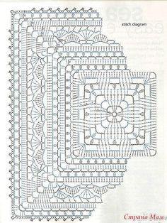 Transcendent Crochet a Solid Granny Square Ideas. Inconceivable Crochet a Solid Granny Square Ideas. Crochet Doily Diagram, Crochet Mandala Pattern, Granny Square Crochet Pattern, Crochet Stitches Patterns, Crochet Squares, Crochet Chart, Thread Crochet, Crochet Granny, Crochet Doilies
