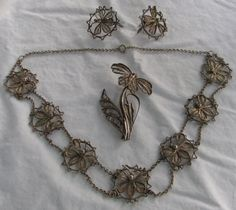 Extra-Ordinary Vintage Sterling Silver Filigree by Cowdogger