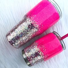 Glitter Tumbler Glitter Yeti Mommy and me Pink Glitter Etsy Glitter Glasses, Glitter Cups, Pink Glitter, Glitter Art, Glitter Bomb, Glitter Glue, Glitter Projects, Glitter Crafts, Craft Projects