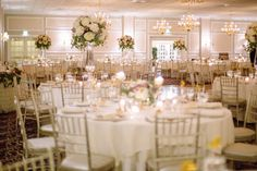 High Centerpiece / Alyson & Gary / The Estate at East Wind / Kate Neal Photography
