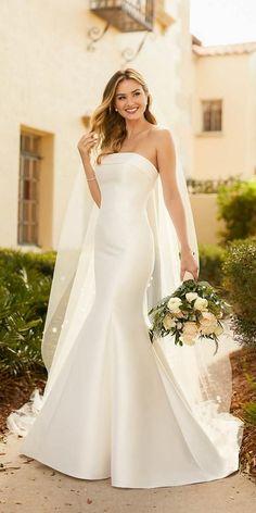 Bridal Outfits, Bridal Dresses, Satin Mermaid Wedding Dress, Cece Dresses, Look Chic, Marie, Crowd, Wedding Planning, Wedding Ideas