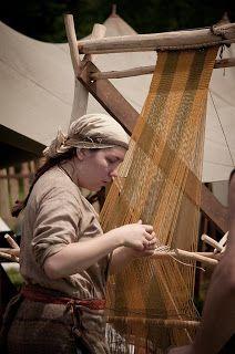 Trollkona: warp weighted loom, or Viking Age Ikea