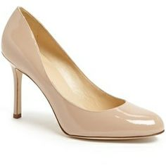 KATE SPADE NEW YORK Arielle round toe pump camel saffiano found on NUDEVOTION #heels #shoes