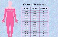 Las necesidades de agua de cada persona varían dependiendo de cada cuerpo. Conoce cuál es la cantidad de agua que necesitas según tu peso corporal.