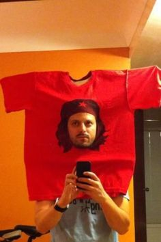Wearing a homemade witty, ironic, or wordplay costume, like one you see here, is way cooler than showing up in a store-bought costume. Plus you certainly want to avoid having the same costume as someone else.