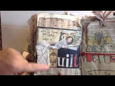 A distressed, vintage sewing journal made by request. Lots of ephemera, pockets, tuck spots, tags lace and patterns used. Lots of handmade vintage envelopes ...