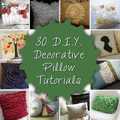 Pinning for initial pillow and ruffle pillow - 30 DIY Decorative Pillow Tutorials - Addicted 2 Decorating® Sewing Pillows, Diy Pillows, Decorative Pillows, Pillow Ideas, Accent Pillows, Throw Pillows, Diy Projects To Try, Craft Projects, Sewing Projects