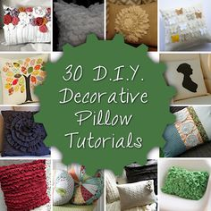 30 diy decorative pillow tutorials. love the monogrammed one, and i think i have a very  similar shirt to make the tuxedo pillow.