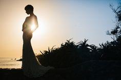 Short hair bride. Modest wedding dress. Gorgeous! San Diego Wedding Photography