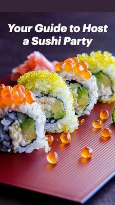 California Roll Recipes, California Roll Sushi, California Pizza, Easy Japanese Recipes, Asian Recipes, Easy Recipes, Asian Foods, Popular Recipes, Sushi Roll Recipes