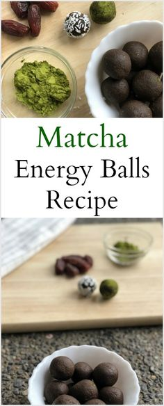 Try these simple Matcha Energy Balls next time you have a sweet craving or just need a little energy boost! They are the perfect snack! Vegetarian Recipes Dinner, Healthy Dessert Recipes, Healthy Snacks, Vegan Recipes, Going Vegetarian, Healthy Habits, Protein Energy, Healthy Protein, Matcha Benefits