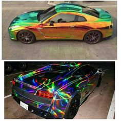 chameleon chrome VS holographic chrome (Cool Cars Accessories)