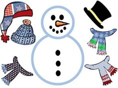 Snowmen printable templates
