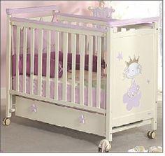Cuna 120x60 mod. princesa marfil rosa