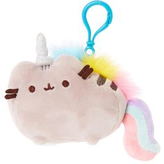 Pusheen Pusheenicorn Plush Key ring Clip | Claire's (39 BRL) ❤ liked on Polyvore featuring accessories and keychains