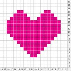 Pink 20x20 Heart