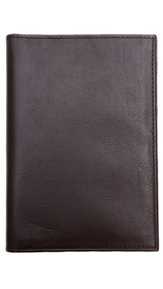 Leather Passport Case - black or brown.
