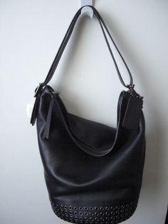 Coach Bleecker Grommet Duffle Leather Bag Black 32392 NWT #Coach #ShoulderBag