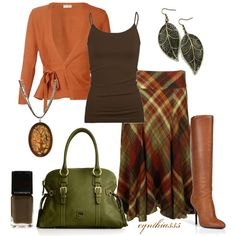 Plaid Skirt, created by cynthia335 on Polyvore